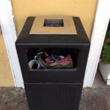 Missing Waste Can at the Moke Hill Library