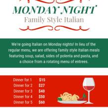 Monday Night Italian Dinner