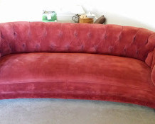Vintage Red Velvet Sofa for Sale